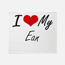 I Love My Ean Throw Blanket