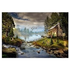 Wildlife Landscape Wall Art Canvas Art