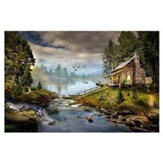 Wildlife Landscape Wall Art Poster