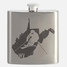 Ski West Virginia Flask