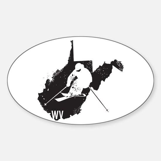 Ski West Virginia Sticker (Oval)