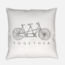 TOGETHER TANDEM BIKE Everyday Pillow