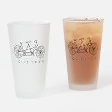 TOGETHER TANDEM BIKE Drinking Glass
