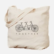 TOGETHER TANDEM BIKE Tote Bag