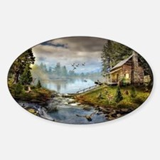 Wildlife Landscape Sticker (Oval)