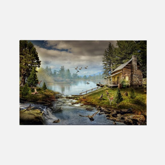 Wildlife Landscape Rectangle Magnet
