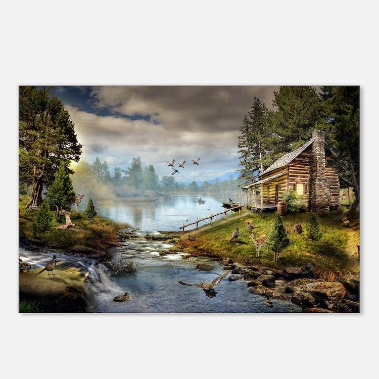Wildlife Landscape Postcards (Package of 8)