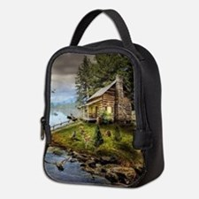 Wildlife Landscape Neoprene Lunch Bag