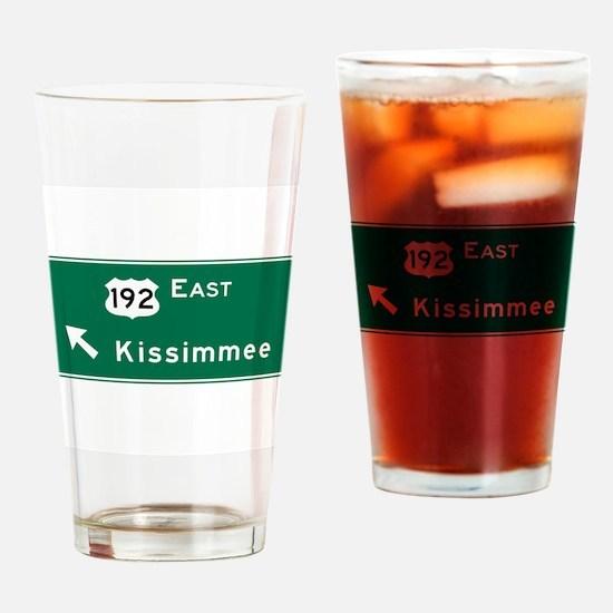 Kissimmee, FL Drinking Glass
