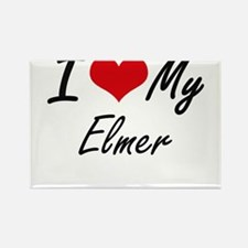 I Love My Elmer Magnets