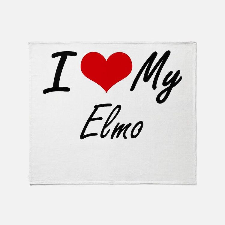 I Love My Elmo Throw Blanket