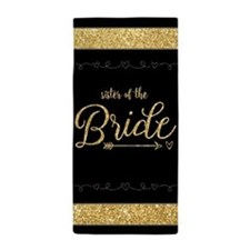 Gold Glitter Gift for Sister of the Br Beach Towel