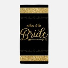 Gold Glitter Gift for Mother of the Br Beach Towel