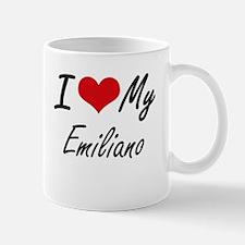 I Love My Emiliano Mugs