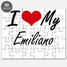 I Love My Emiliano Puzzle
