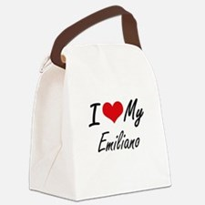 I Love My Emiliano Canvas Lunch Bag