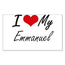 I Love My Emmanuel Decal