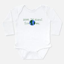 Unique Save the planet Long Sleeve Infant Bodysuit