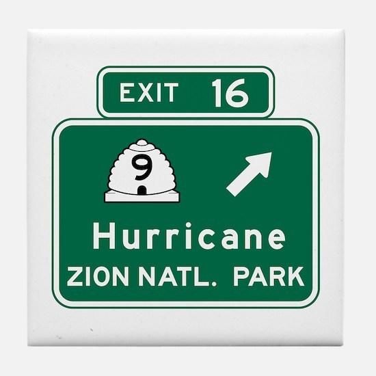 Hurricane-Zion Natl Park, UT Tile Coaster