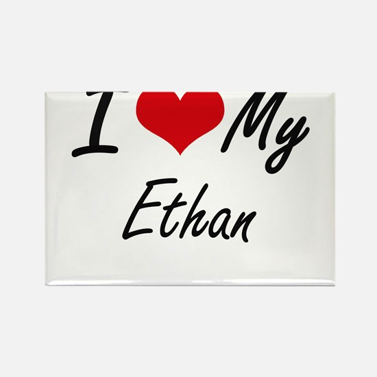 I Love My Ethan Magnets