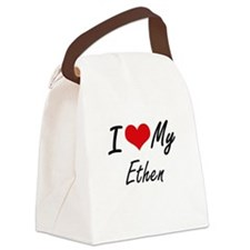 I Love My Ethen Canvas Lunch Bag