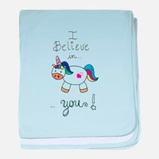 I believe in YOU! UNICORN baby blanket
