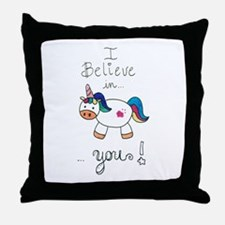 I believe in YOU! UNICORN Throw Pillow