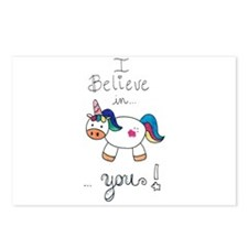 I believe in YOU! UNICORN Postcards (Package of 8)
