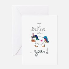 I believe in YOU! UNICORN Greeting Cards