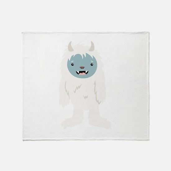 Yeti Creature Throw Blanket