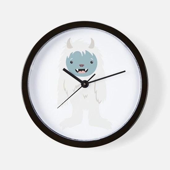 Yeti Creature Wall Clock