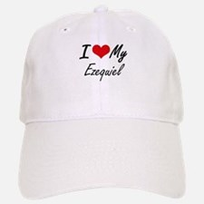 I Love My Ezequiel Baseball Baseball Cap