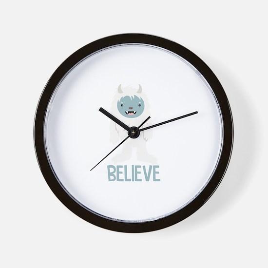 Believe In Yeti Wall Clock