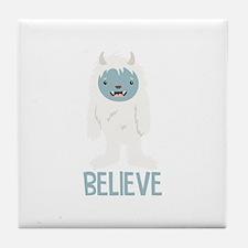 Believe In Yeti Tile Coaster
