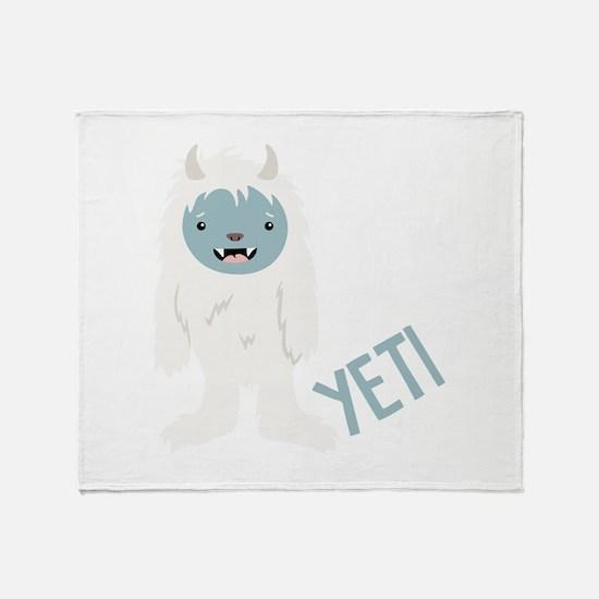 Yeti Monster Throw Blanket