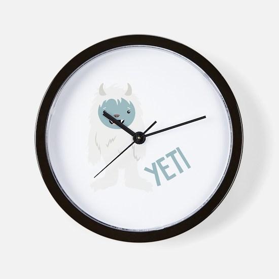 Yeti Monster Wall Clock
