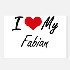 I Love My Fabian Postcards (Package of 8)