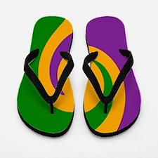 Mardi Gras Swirl Flip Flops