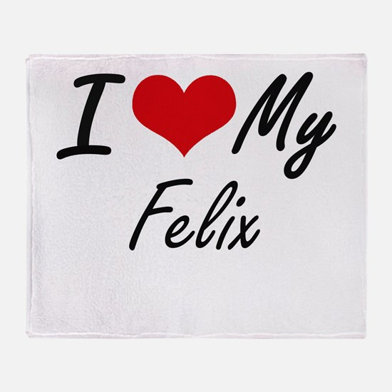 I Love My Felix Throw Blanket