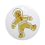 Victorian Gingerbread Man Ornament (Round)