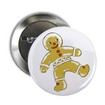 Victorian Gingerbread Man Button