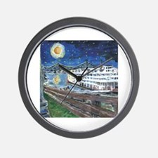 River Boat on Mississippi Wall Clock