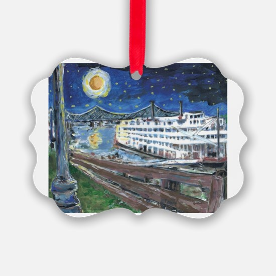 River Boat on Mississippi Ornament