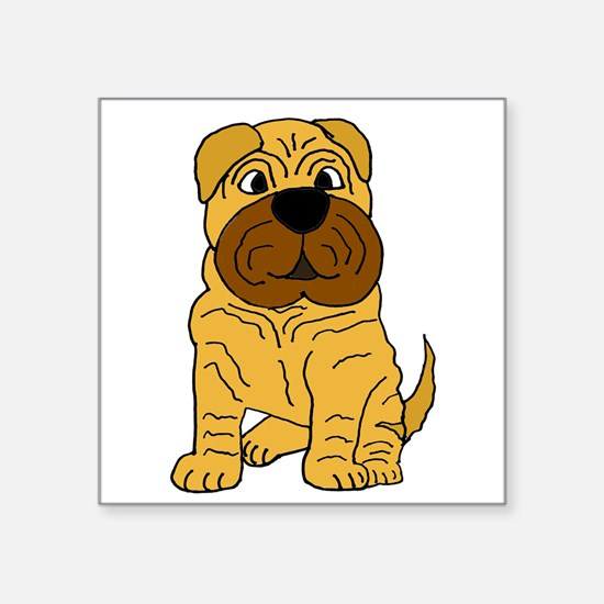 Funny Shar Pei Puppy Dog Sticker