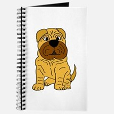 Funny Shar Pei Puppy Dog Journal