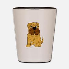 Funny Shar Pei Puppy Dog Shot Glass