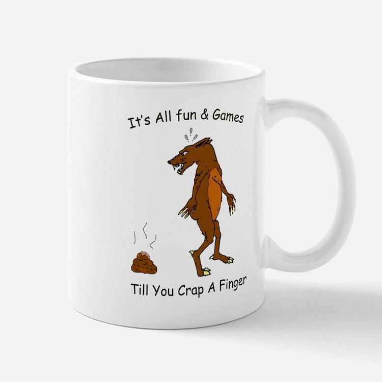crap_finger_darker_blk.png Mugs