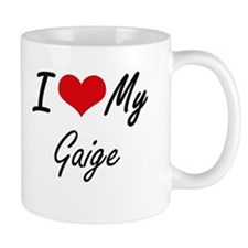 I Love My Gaige Mugs