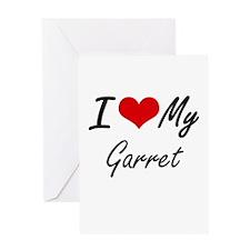I Love My Garret Greeting Cards