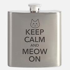 Keep Calm and Meow On Flask